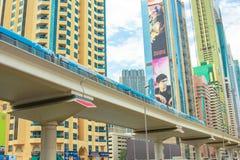 Metro subterráneo de Dubai Foto de archivo