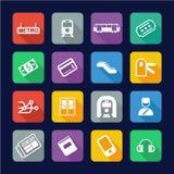 Metro Or Subway Icons Flat Design Royalty Free Stock Image
