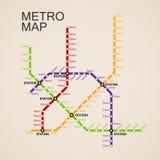 Metro or subway map design Royalty Free Stock Photography
