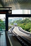 Metro Subway Station Approaching Train Monorail Stock Images