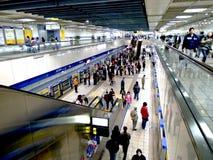 Metro systeem op 6 Februari in Taipeh Stock Afbeelding