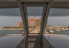 The metro system of Dubai, UAE. Dubai, United Arab Emirates - the Dubai Metro is the fastest way to get from one side to the other of Dubai, and offers the royalty free stock photography