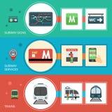 Metro sztandaru set Obrazy Royalty Free