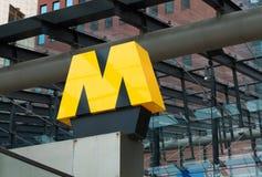 Metro teken Stock Foto
