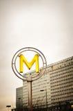 Metro Teken Stock Afbeeldingen