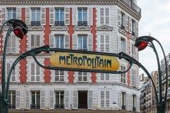 Metro Teken Royalty-vrije Stock Afbeelding