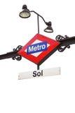 Metro teken - Sol Royalty-vrije Stock Afbeelding
