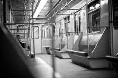 Metro time silence royalty free stock photography