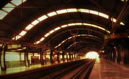 Rail track. Metro track delhi train daytime delhimetro iron rail royalty free stock photography