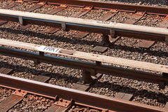 Metro Tracks royalty free stock image
