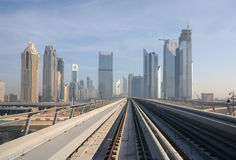 Metro tracks in Dubai Stock Images