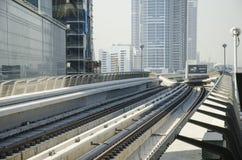 Metro tracks. Dubai metro tracks, united arab emirates Stock Image