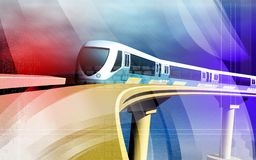 Metro train Stock Image