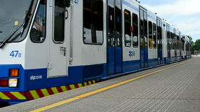 Metro train in Amsterdam, Netherlands, stock footage