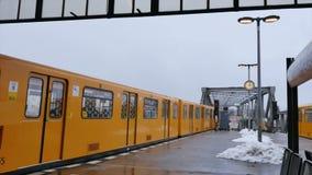 Metro Train Berlin Germany. Europe stock video footage