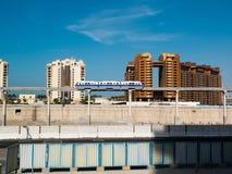 Metro train downtown in Dubai Stock Photo