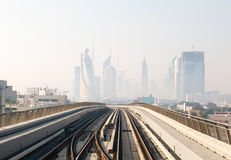 Metro Train in Dubai, United Arab Emirates Royalty Free Stock Photography