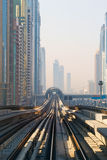 Metro Train in Dubai, United Arab Emirates Stock Photo