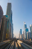 Metro Train in Dubai, United Arab Emirates Stock Photography