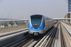 Metro train in Dubai Royalty Free Stock Photography