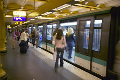 Metro Train at the Gare de Lyon in Paris, France Royalty Free Stock Image