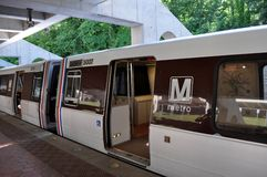 Metro Train. An image of the Washington DC Metro train royalty free stock images
