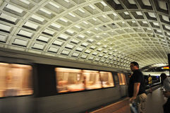 Metro Train. An image of the Washington DC Metro train entering the station royalty free stock images
