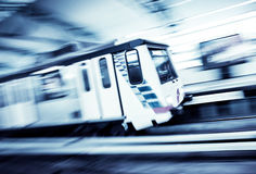 Metro Train with motion blur effect Stock Image