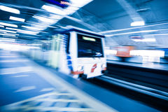 Metro Train with motion blur effect Royalty Free Stock Photos