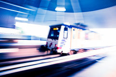 Metro Train with motion blur effect Royalty Free Stock Photography