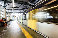 Metro Train with motion blur effect Royalty Free Stock Image