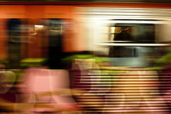Metro train in motion Stock Photos