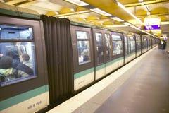Metro Train, Paris, France Royalty Free Stock Photo