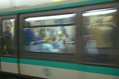 Metro Train, Paris, France Stock Photography