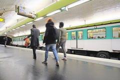 metro train in Paris Royalty Free Stock Photos