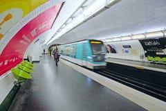 Metro train in Paris Royalty Free Stock Photography