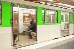 Metro train in Paris Royalty Free Stock Images