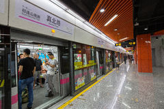 Metro Train and people Stock Photography