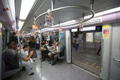 Metro Train and people Royalty Free Stock Photography