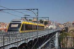 Metro train in Porto Stock Images