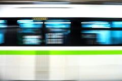 Metro train. Speeding up in the subway Stock Photography