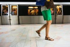 Metro train station Royalty Free Stock Photo