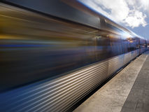 Metro Train Station. Photo of a Metro Train Station and a train in motion royalty free stock images