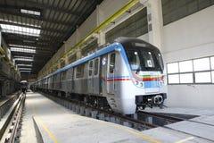 Metro Train station. Uppal Hyderabad India Royalty Free Stock Photo