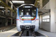 Metro Train station. Uppal Hyderabad India Stock Photos