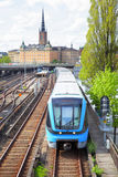 Metro train in Stockholm Royalty Free Stock Photography