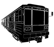 Metro Train Wagon Vector 01. Metro Train Engine Wagon Isolated Illustration Vector Royalty Free Stock Photography