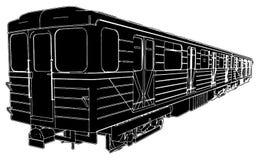 Metro Train Wagon Vector 02 Royalty Free Stock Image