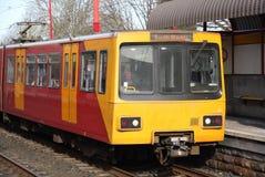 Metro Trein Royalty-vrije Stock Afbeeldingen
