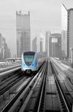 Metro Trein in Doubai Royalty-vrije Stock Foto